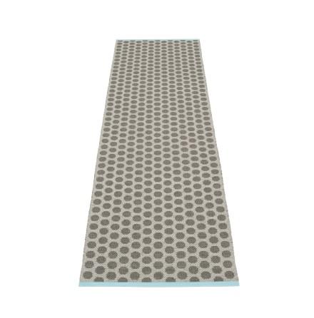 Noa plastmatta Charcoal/Warm grey/Turquoise edge