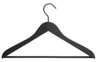 Soft Coat Hanger-pinne 4-pack svart