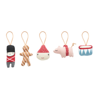 Christmas mini figurer 5 stk