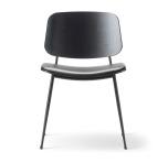 Söborg stol 3061, stålben, stoppad sits