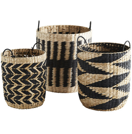Wicker baskets, black