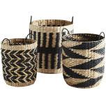 Wicker baskets, black