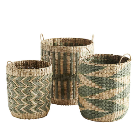 Wicker baskets, green