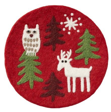 Jul grytunderlägg i ull