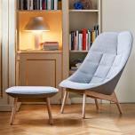 Uchiwa lounge chair och fotpall, Steelcut trio och Remix