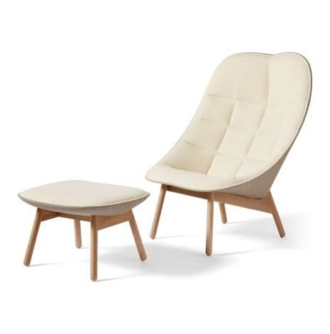 Uchiwa lounge chair och fotpall. Flambier och Canvas