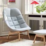 Uchiwa lounge chair och fotpall. Mode och Remix
