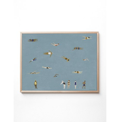 Swimmers poster 50x70 cm