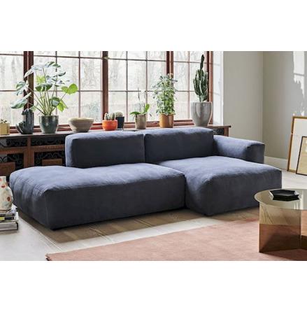 Mags soft 2,5-soffa, comb. 3, lågt armstöd