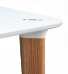 Buff elliptiskt bord